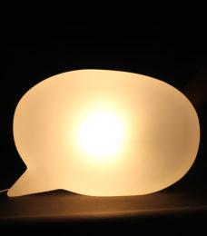 luminaria blablabla acesa